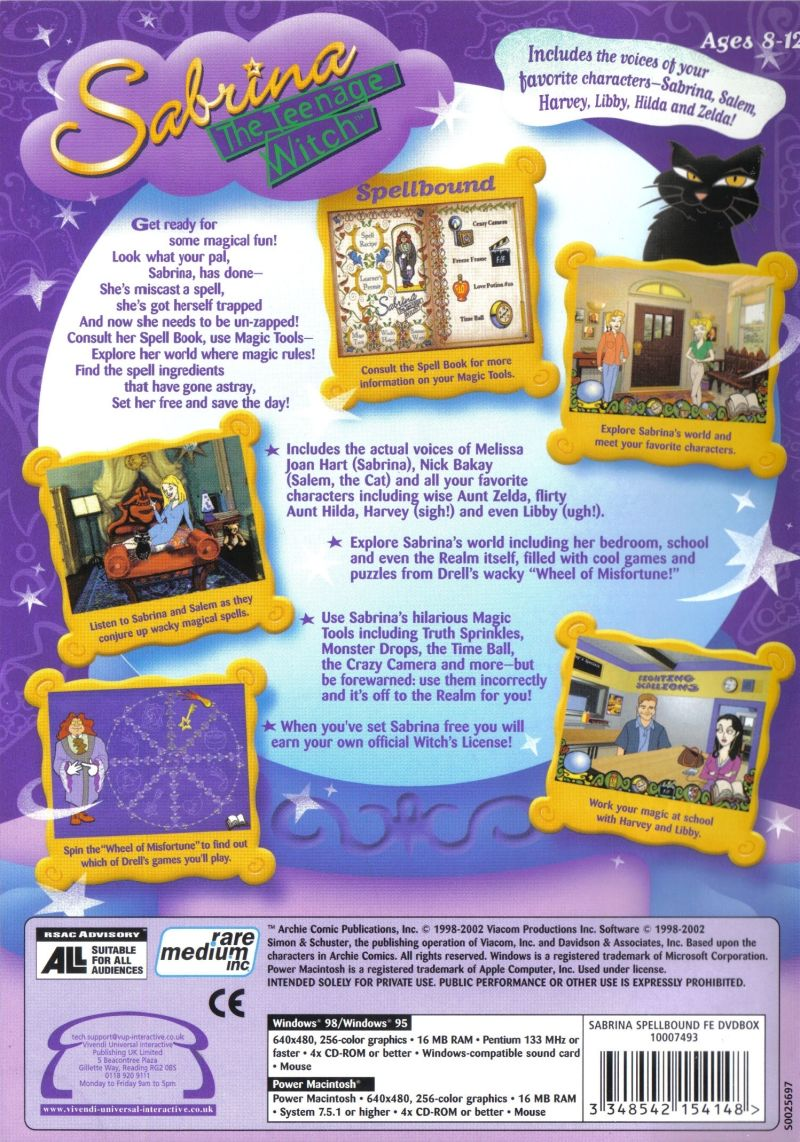 Sabrina The Teenage Witch Bedroom Sabrina The Teenage Witch Spellbound 1999 Macintosh Box Cover