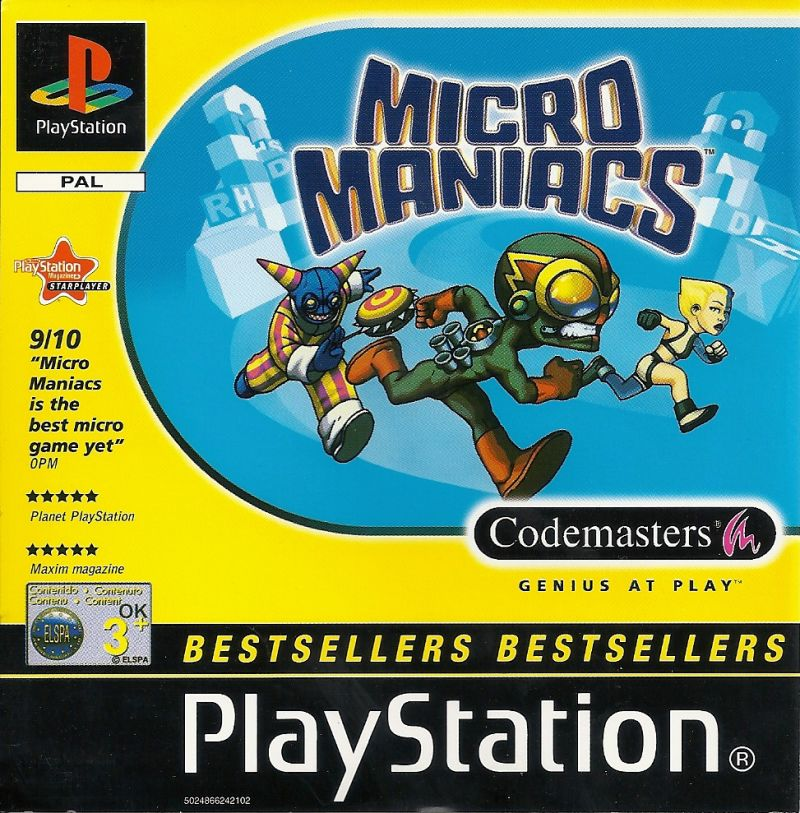 FoxKids.com Micro Maniacs Racing PlayStation Front Cover
