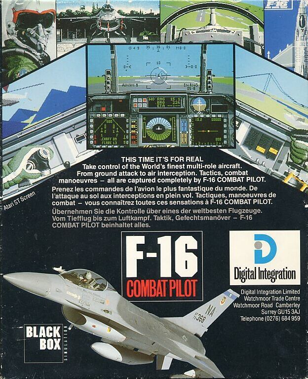 F-16 Combat Pilot Commodore 64 Back Cover