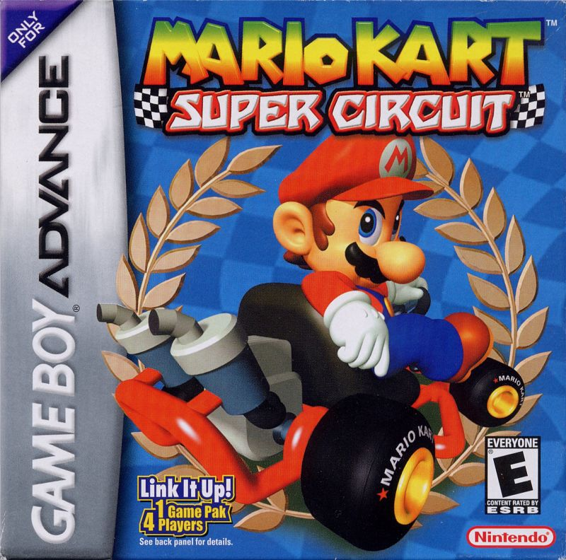 Mario Kart: Super Circuit Game Boy Advance Front Cover