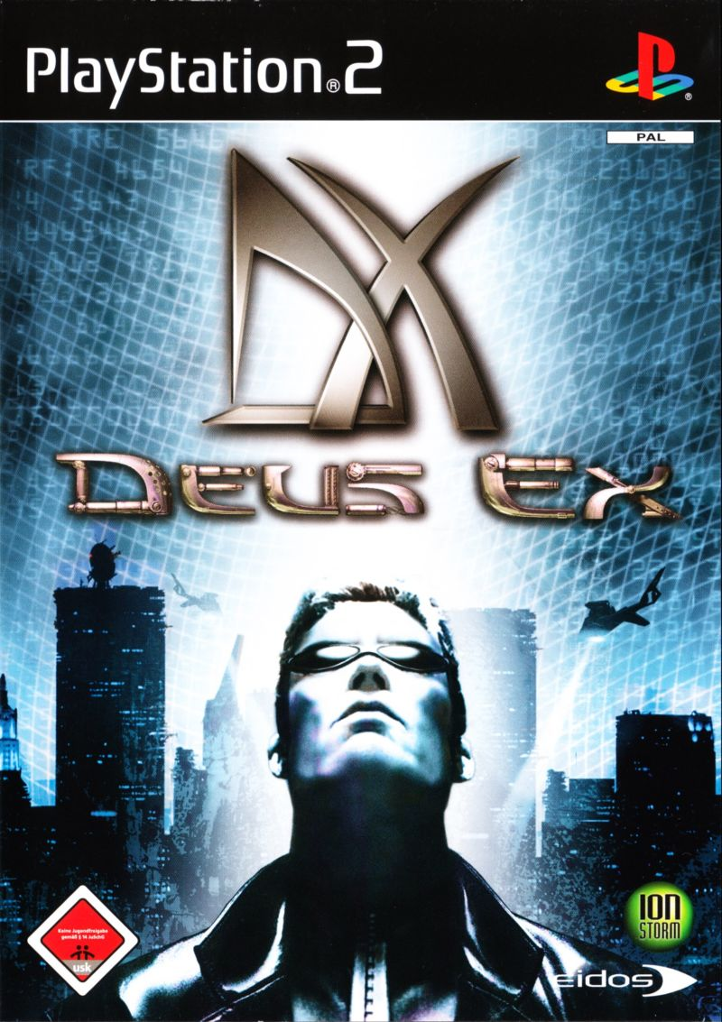 Deus Ex PlayStation 2 Front Cover