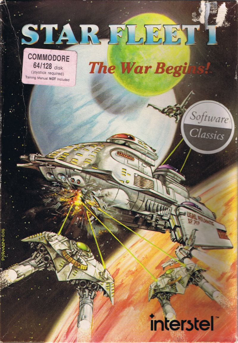 Star Fleet I: The War Begins! Commodore 64 Front Cover