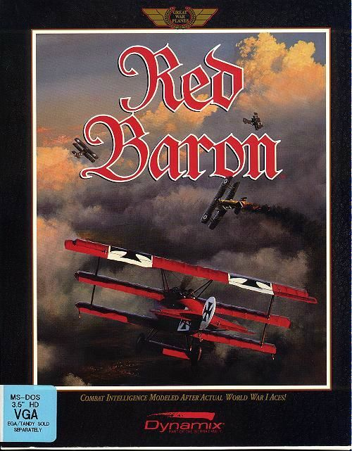 Red Baron DOS Front Cover