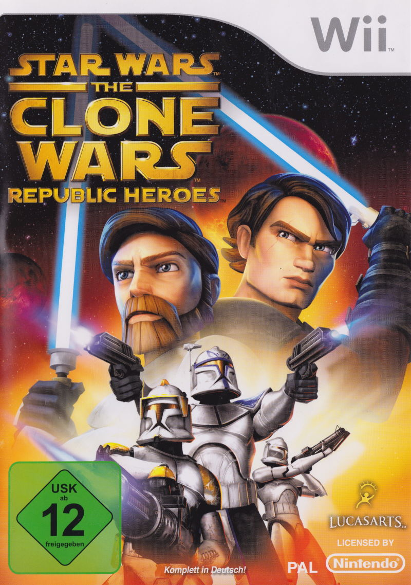 Star Wars: The Clone Wars - Republic Heroes Wii Front Cover