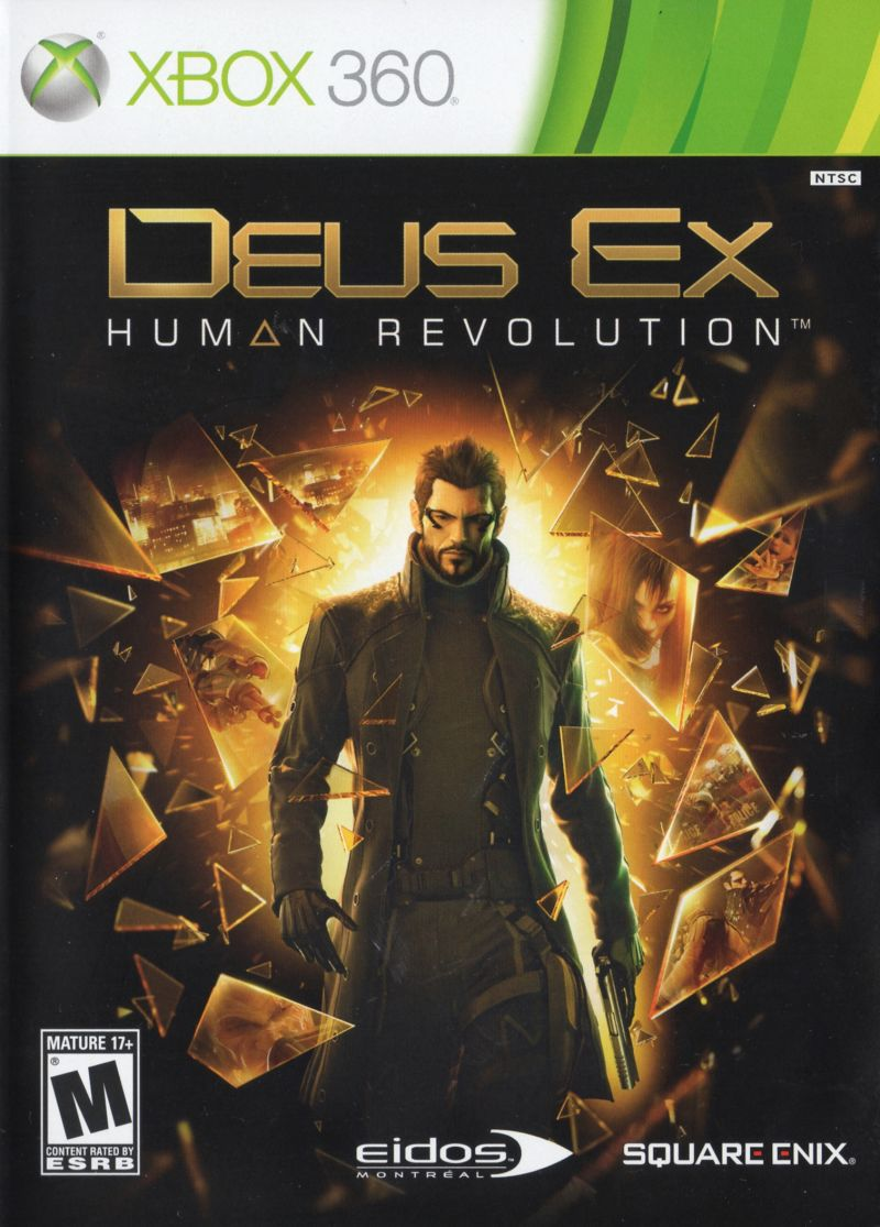 Deus Ex: Human Revolution Xbox 360 Other Keep Case - Front
