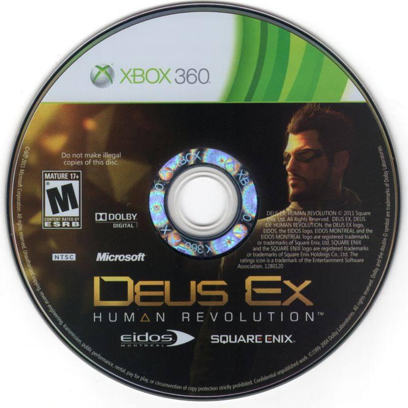 Deus Ex: Human Revolution Xbox 360 Media