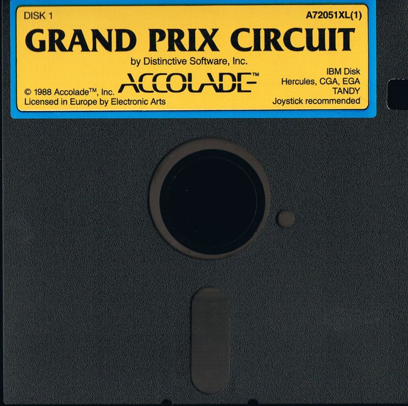 Grand Prix Circuit DOS Media Disk 1/2