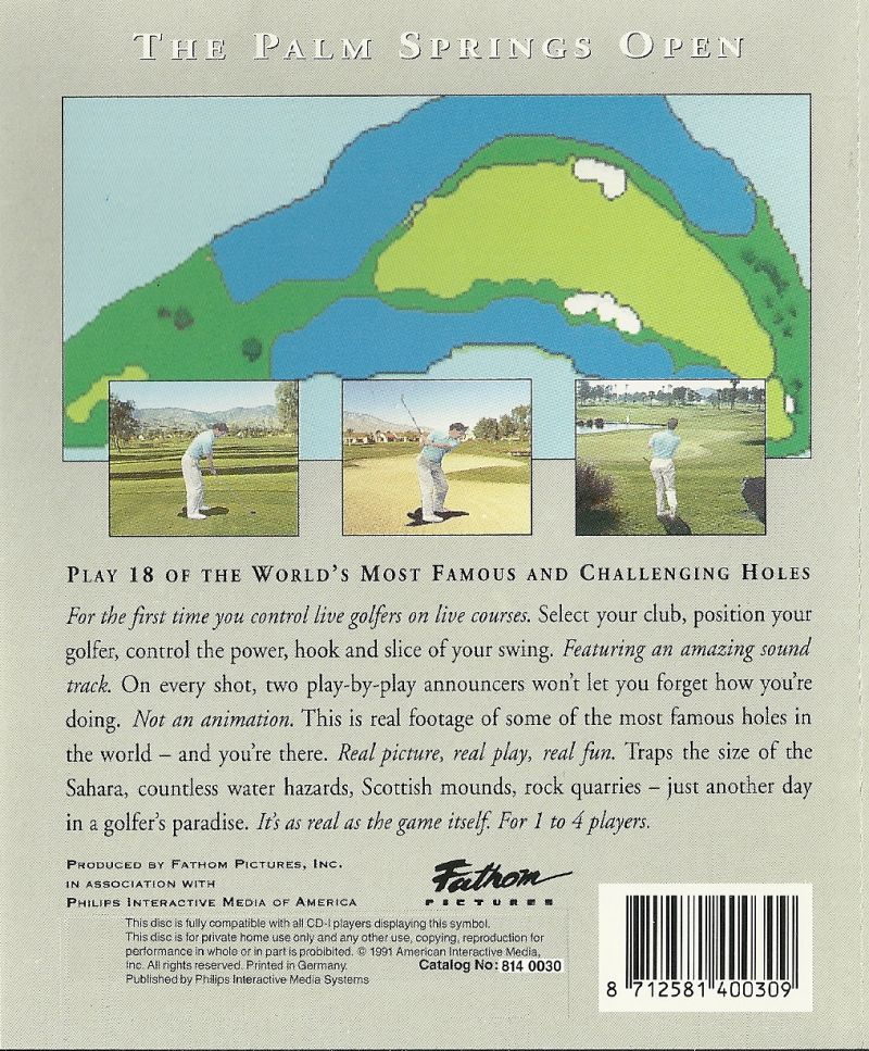 ABC Sports Presents: The Palm Springs Open CD-i Back Cover