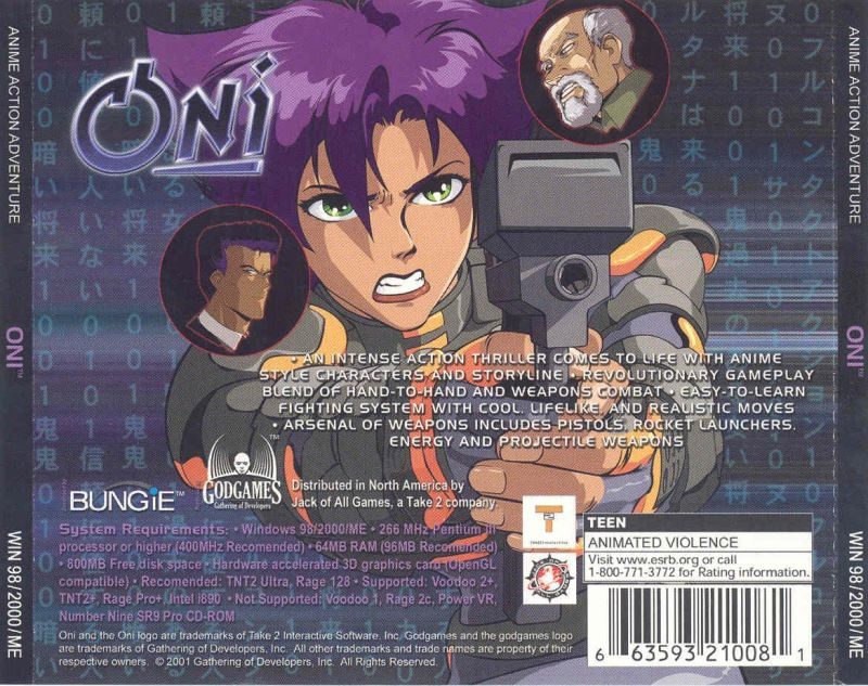 Oni Windows Other Jewel Case - Back