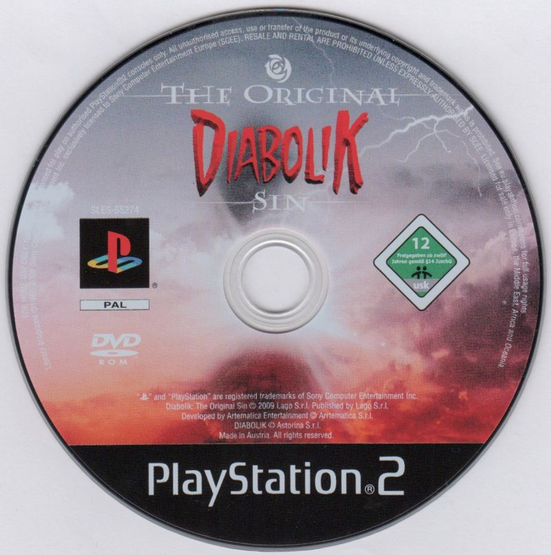 Diabolik: The Original Sin PlayStation 2 Media