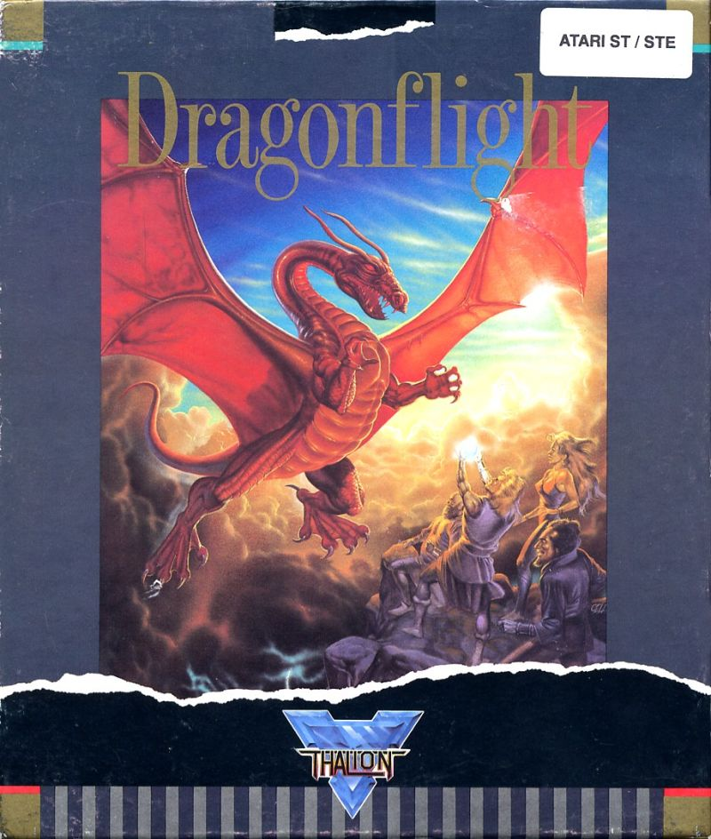 Dragonflight Atari ST Front Cover