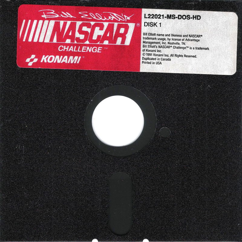 "Bill Elliott's NASCAR Challenge DOS Media 5.25"" Disk (1/1)"