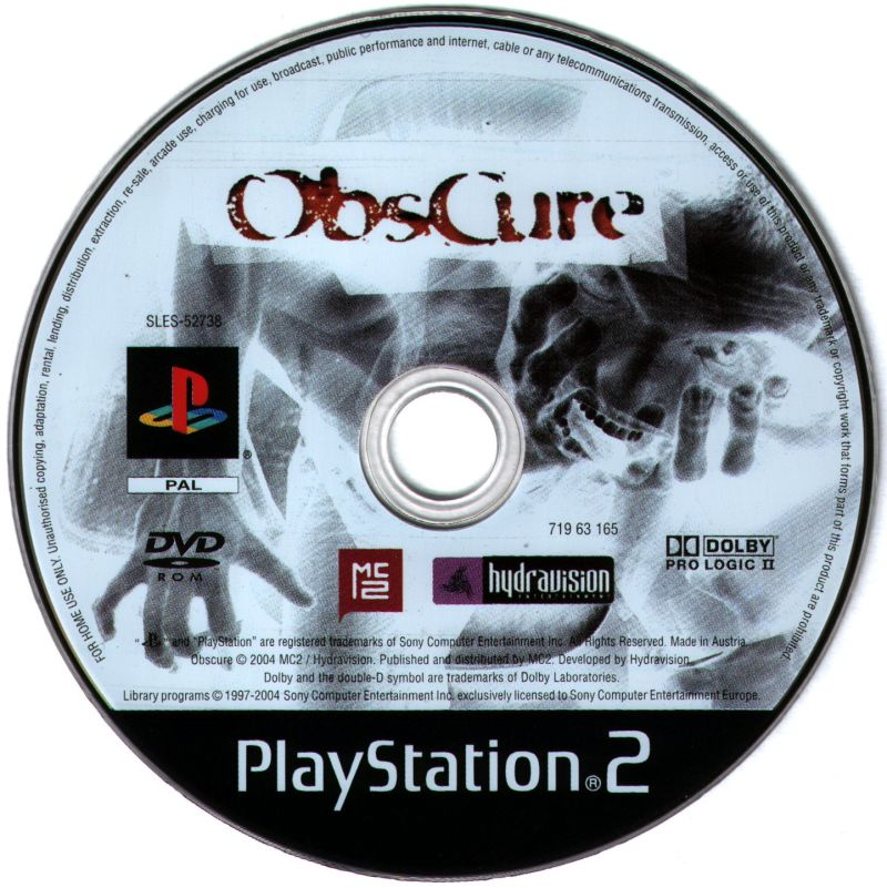 ObsCure PlayStation 2 Media