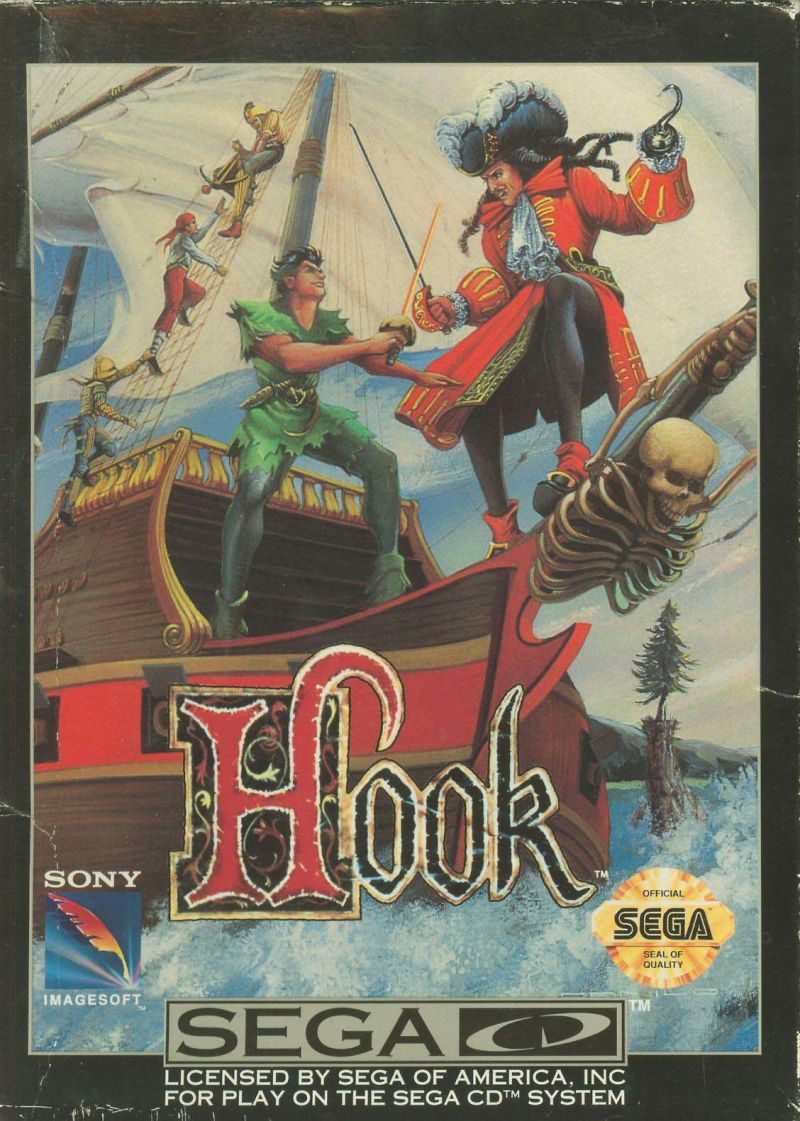 Hook SEGA CD Front Cover