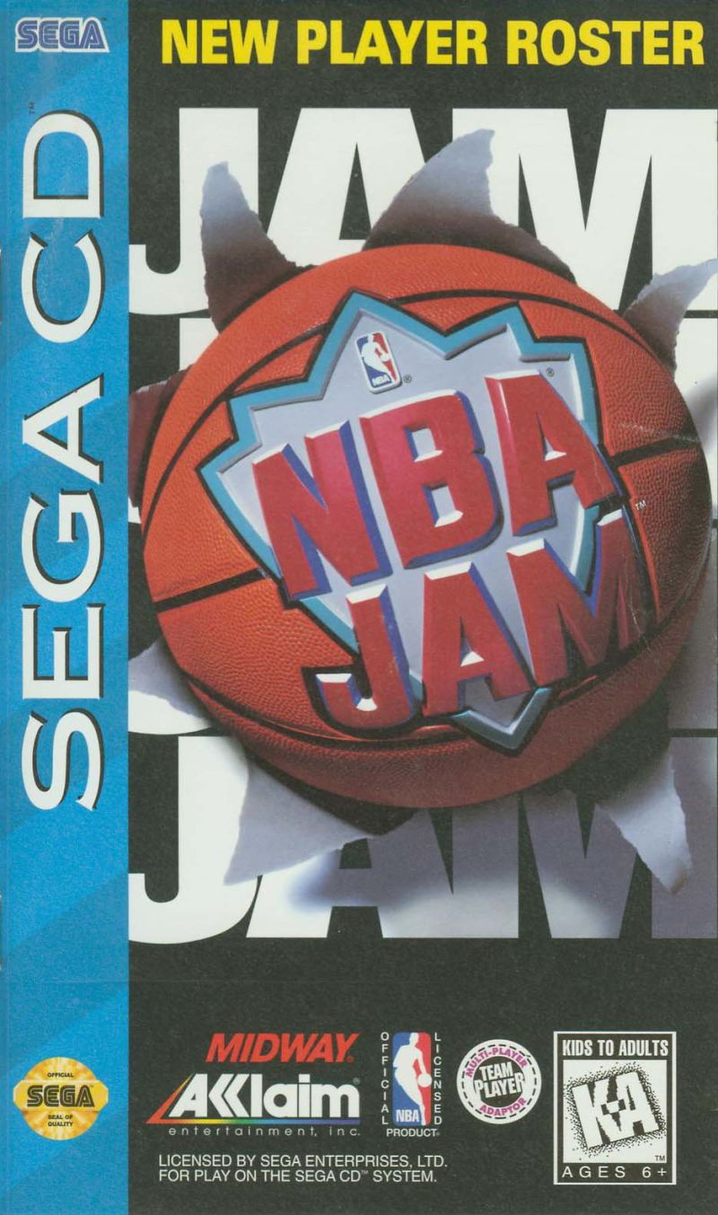 NBA Jam SEGA CD Front Cover