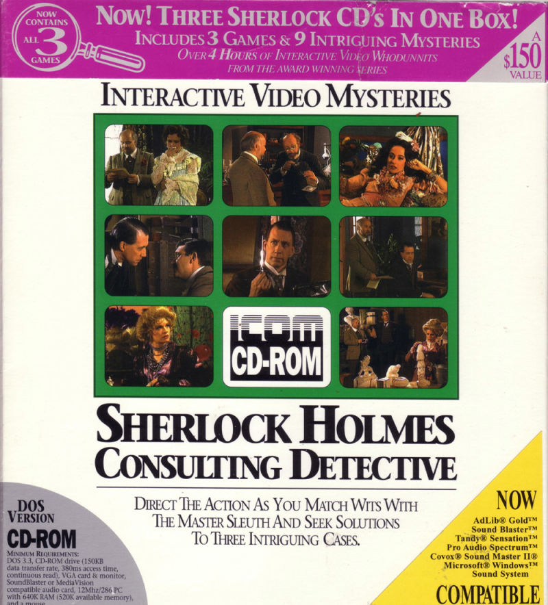 Sherlock Holmes: Consulting Detective Collection DOS Front Cover