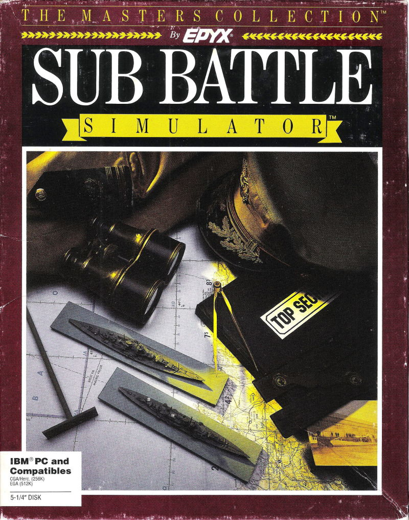 Sub Battle Simulator DOS Front Cover