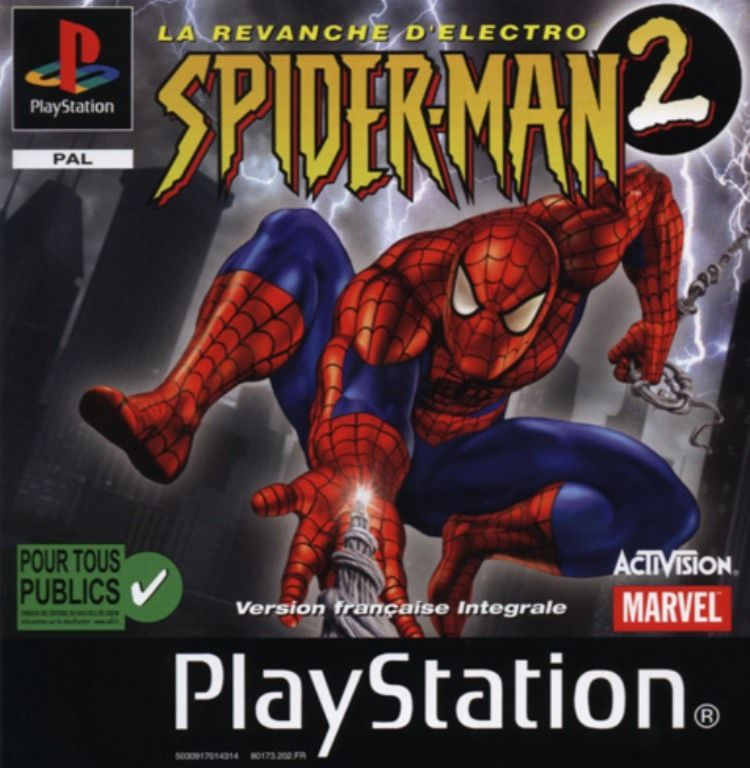 Spider-Man 2: Enter: Electro PlayStation Front Cover