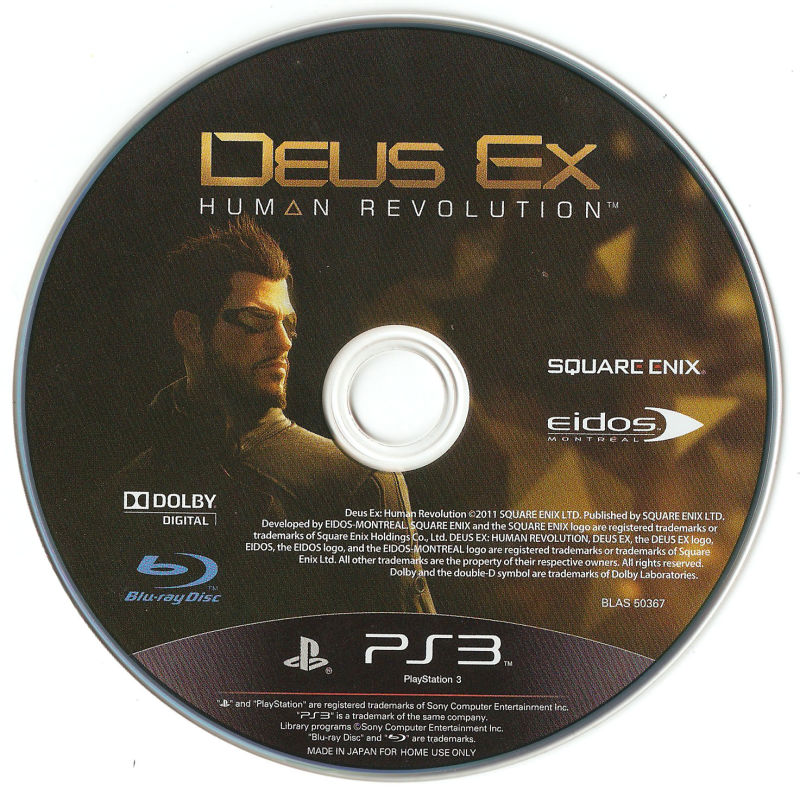 Deus Ex: Human Revolution PlayStation 3 Media