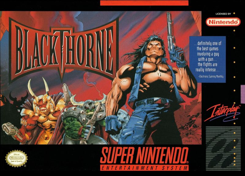 Blackthorne SNES Front Cover