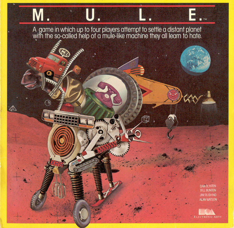 M.U.L.E. Commodore 64 Front Cover