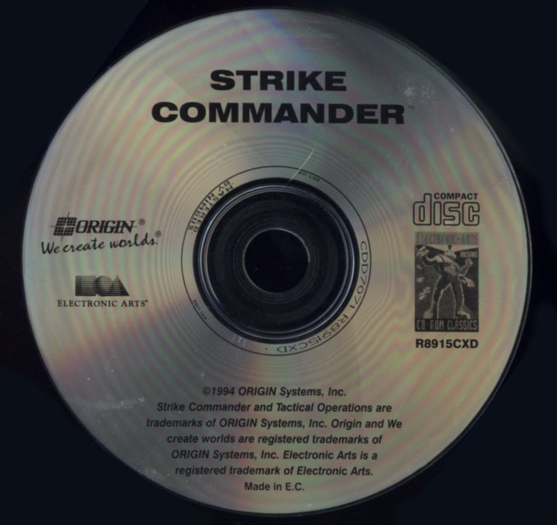 Strike Commander (CD-ROM Edition) DOS Media