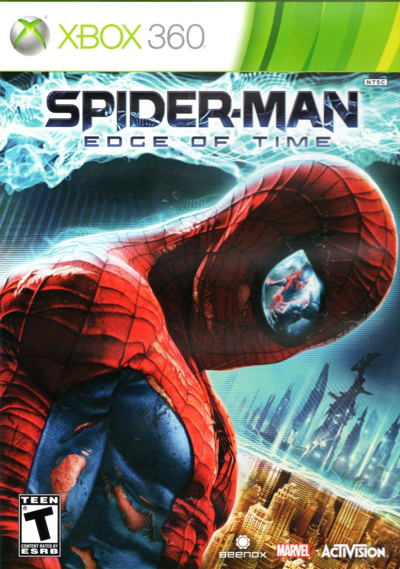 Spider-Man: Edge of Time (2011) Xbox 360 box cover art ... Xbox 360 Game Cover Size