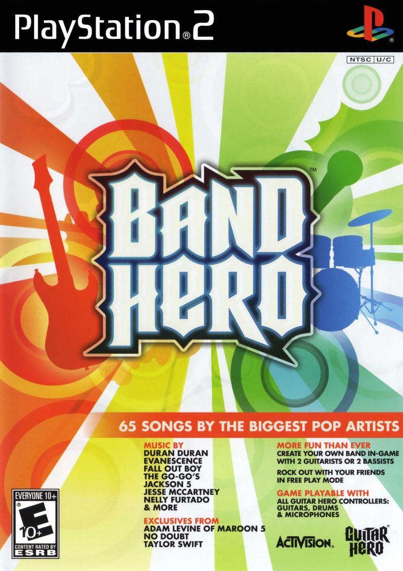 Band Hero PlayStation 2 Front Cover