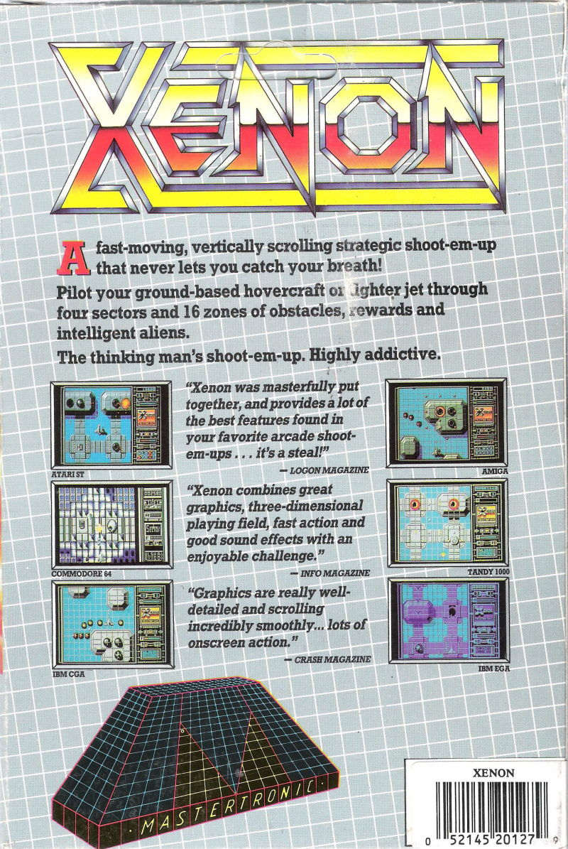 Xenon DOS Back Cover