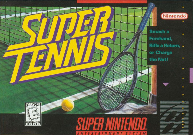 Super Tennis SNES Front Cover