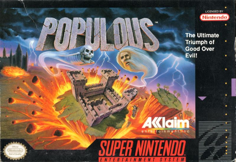 Populous SNES Front Cover