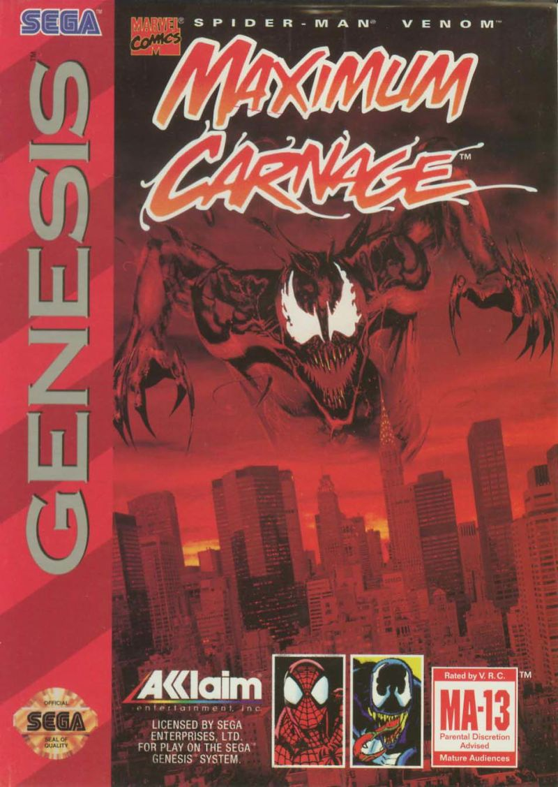 Spider-Man / Venom: Maximum Carnage Genesis Front Cover