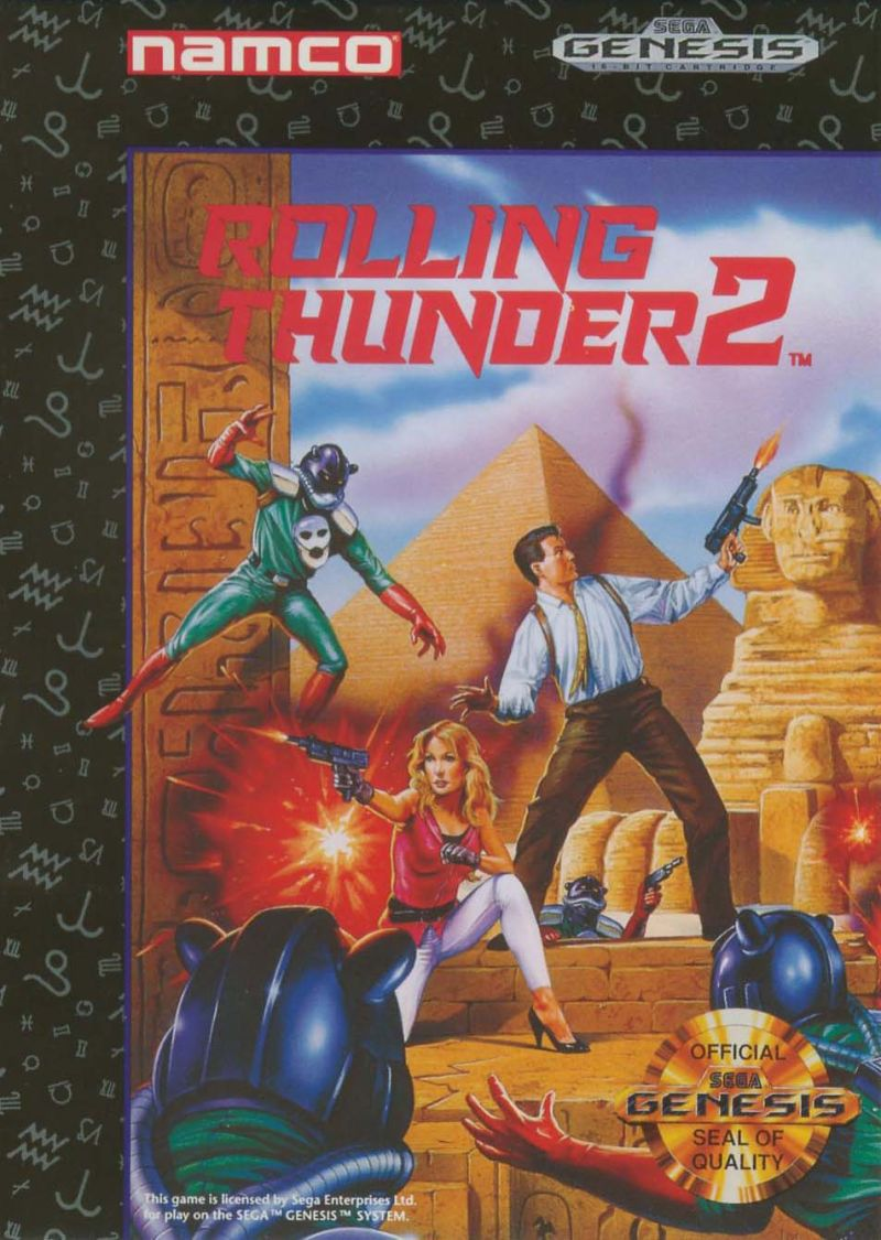 Rolling Thunder 2 Genesis Front Cover