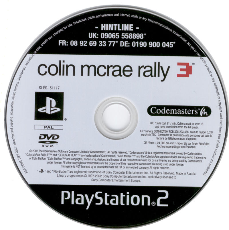 Colin McRae Rally 3 PlayStation 2 Media