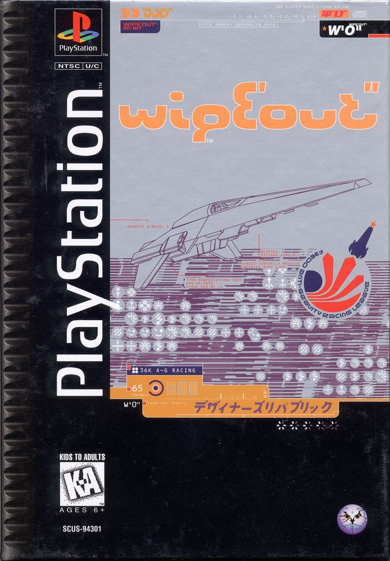Wipeout Playstation Front Cover