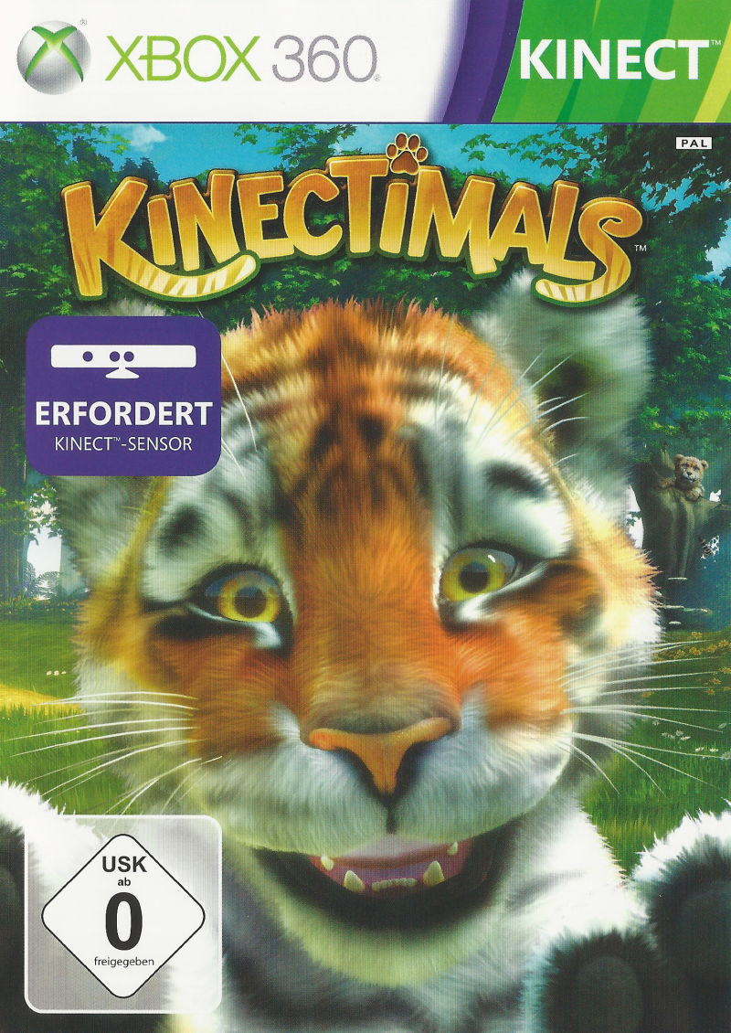 Kinectimals (2010) Xbox 360 box cover art - MobyGames