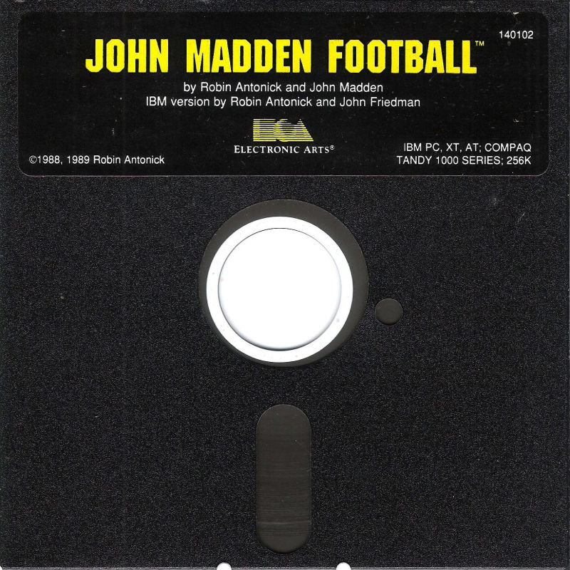 John Madden Football DOS Media Program Disk