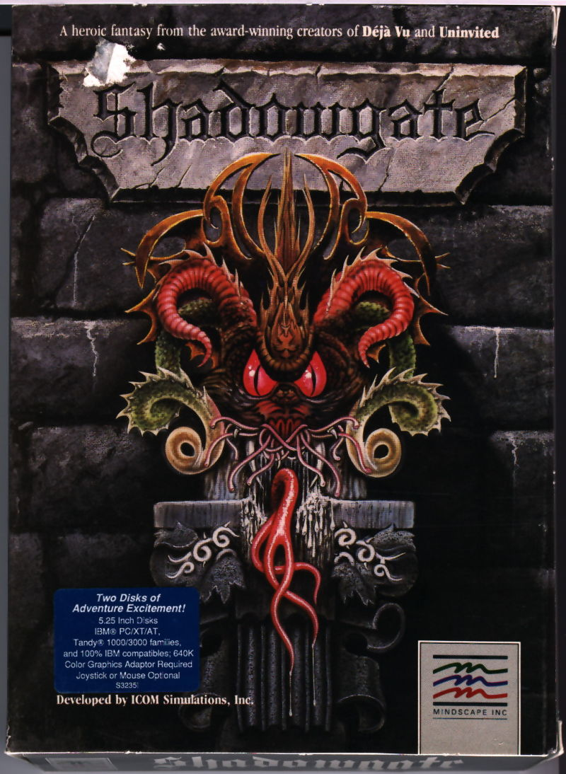Shadowgate DOS Front Cover