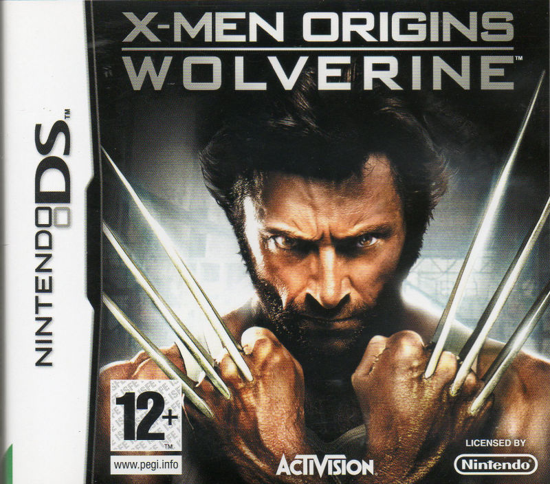 X-Men Origins: Wolverine Nintendo DS Front Cover