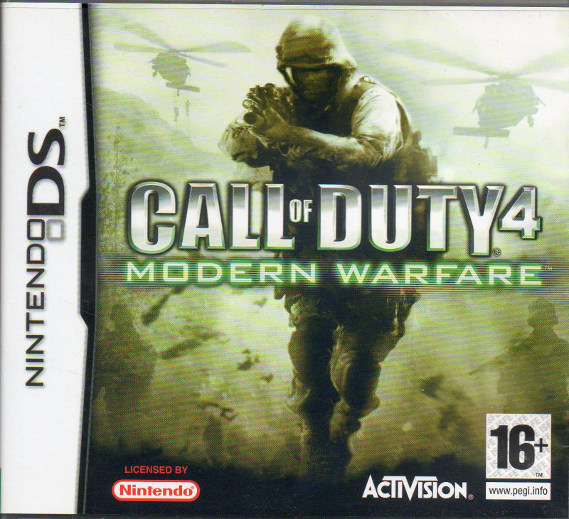 Call of Duty 4: Modern Warfare Nintendo DS Front Cover