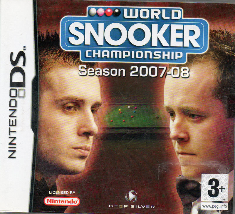 World Snooker Championship: Season 2007-08 Nintendo DS Front Cover