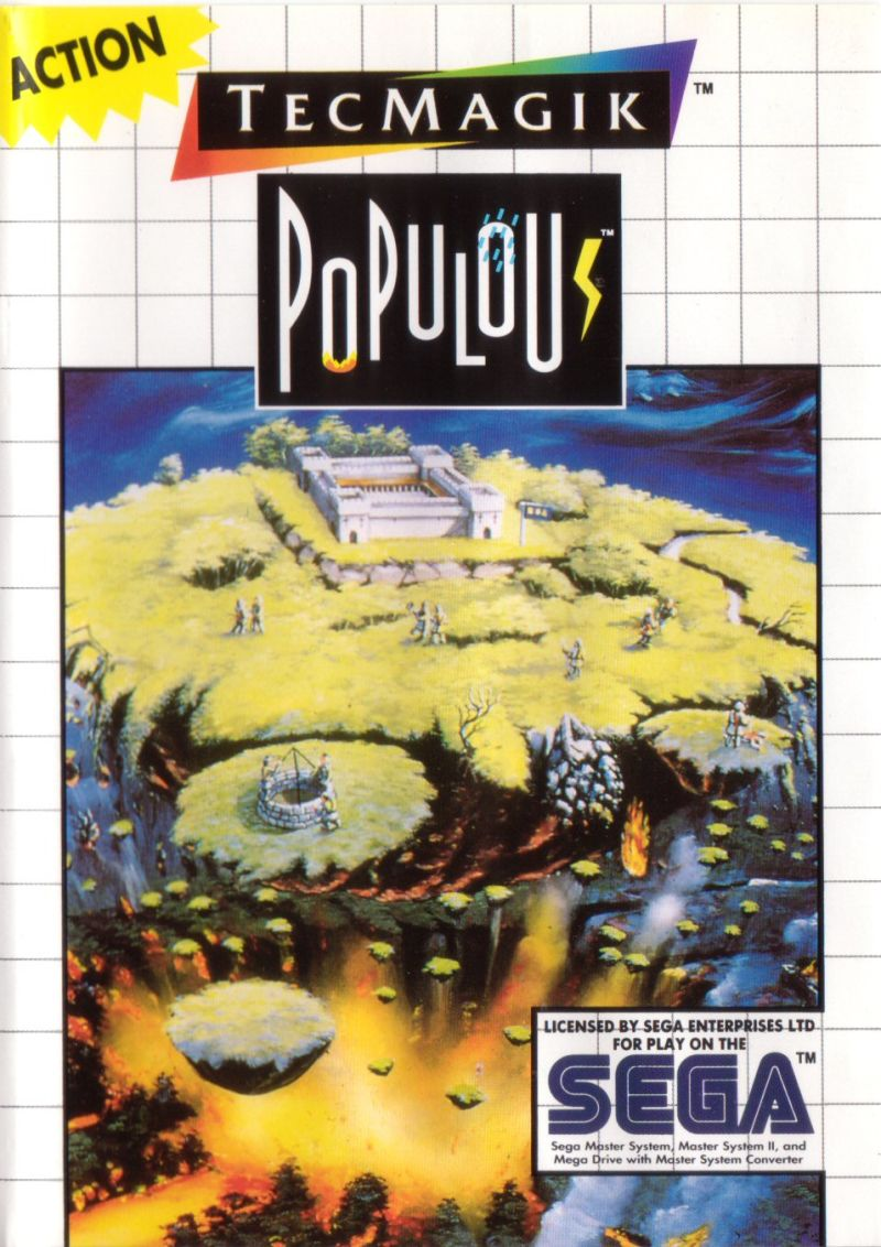 Populous SEGA Master System Front Cover