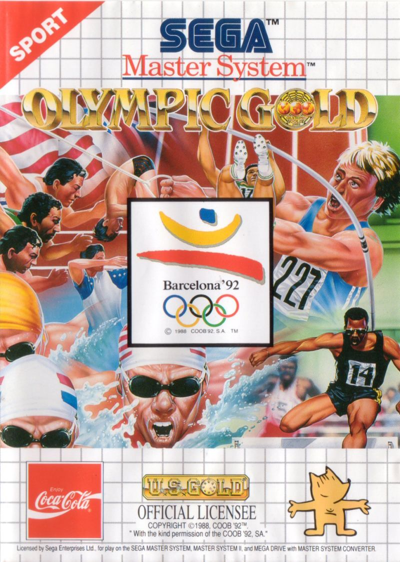 Olympic Gold: Barcelona '92 SEGA Master System Front Cover