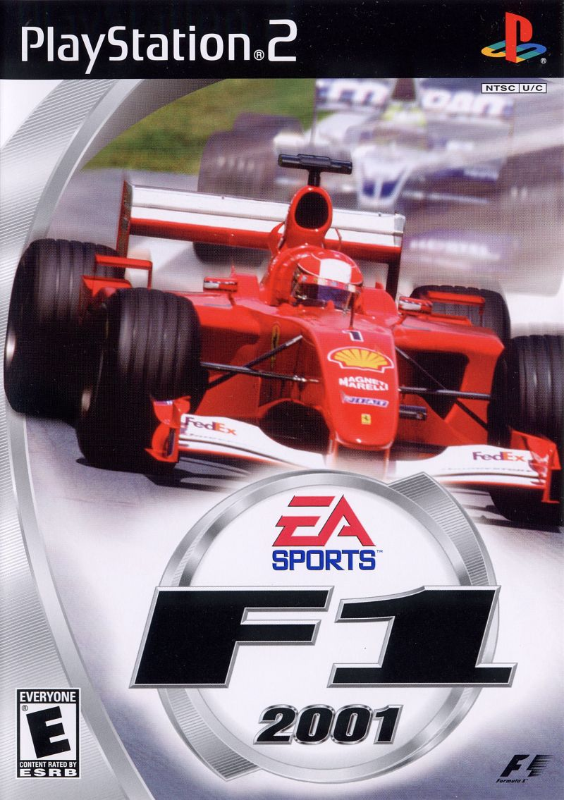 F1 2001 PlayStation 2 Front Cover