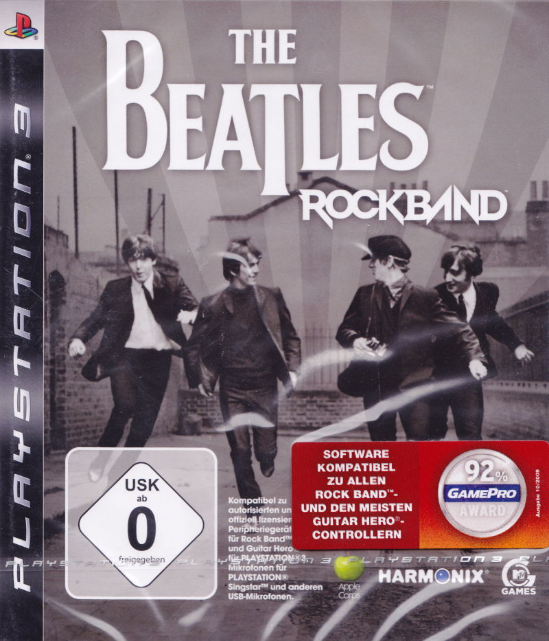 The Beatles: Rock Band (2009) PlayStation 3 box cover art