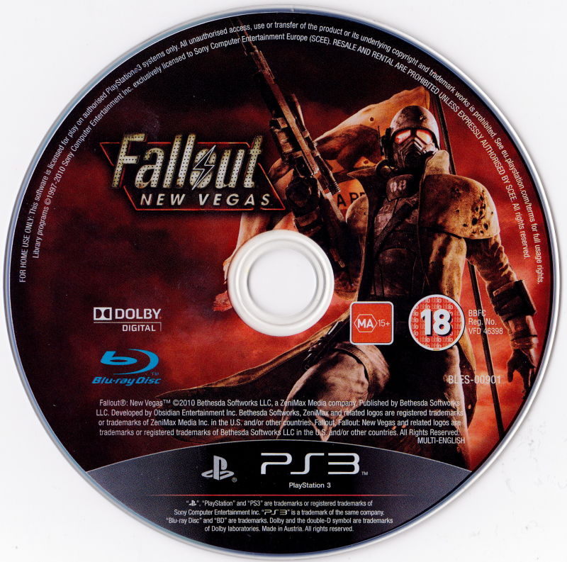 Fallout: New Vegas PlayStation 3 Media