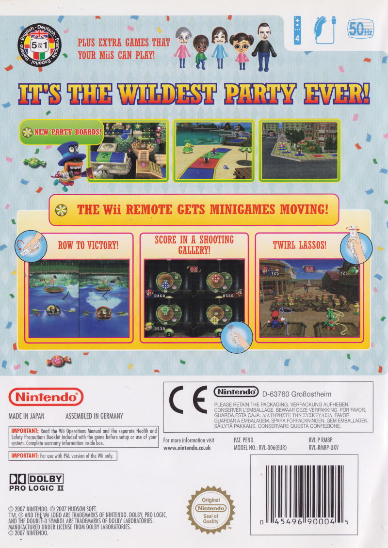 mario party 8 2007 wii box cover art mobygames. Black Bedroom Furniture Sets. Home Design Ideas