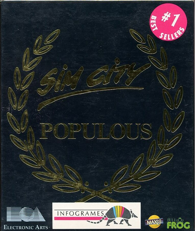 SimCity & Populous Amiga Front Cover