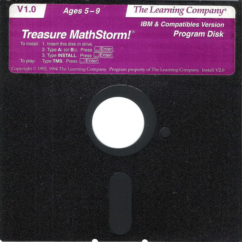 Treasure MathStorm! DOS Media Disk (1/1)