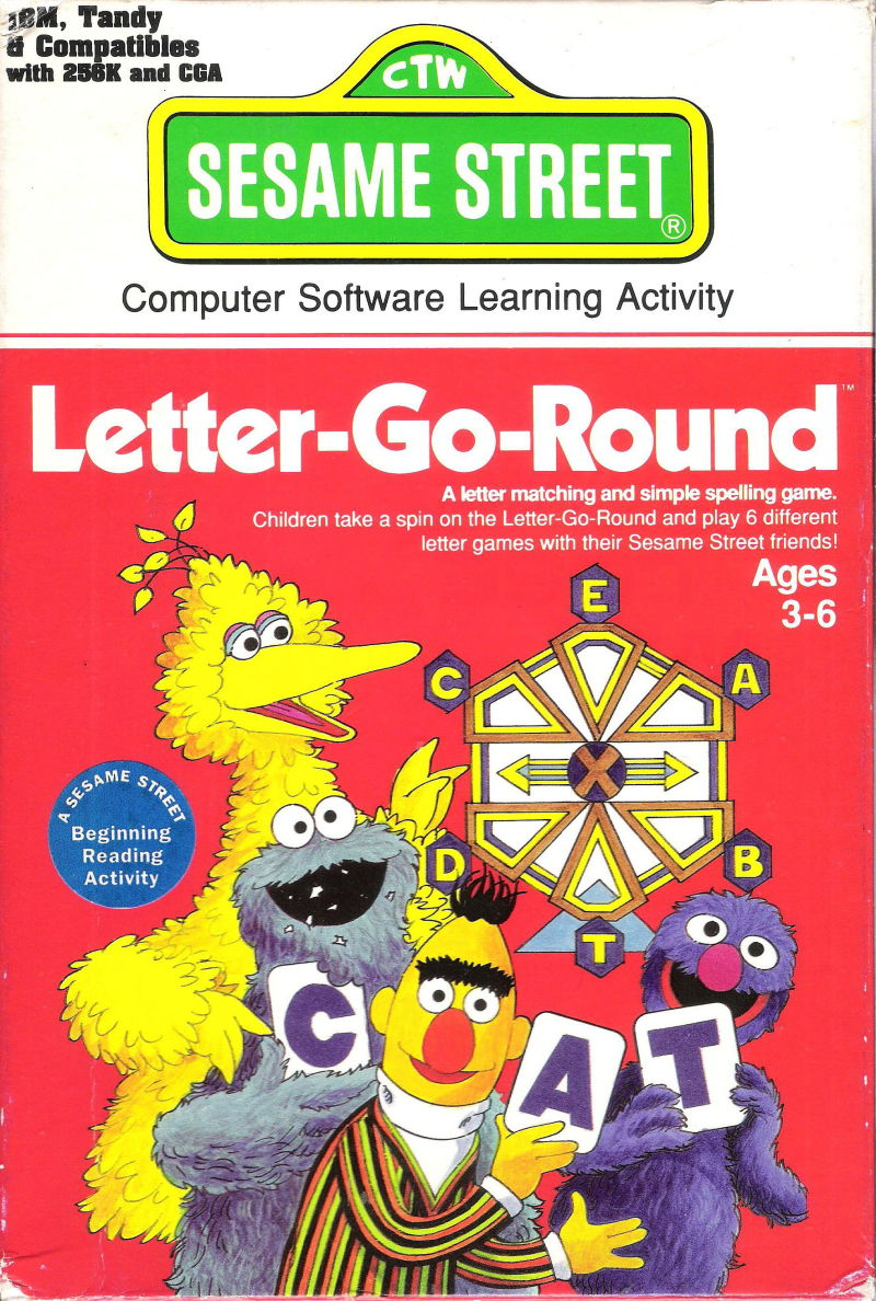 Sesame Street: Letter-Go-Round DOS Front Cover
